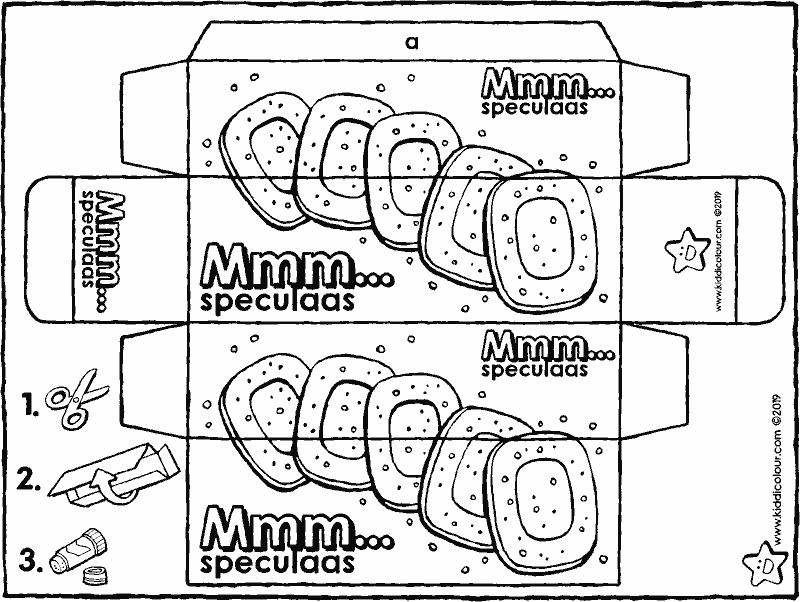 make your own speculaas packet colouring page drawing picture 01K