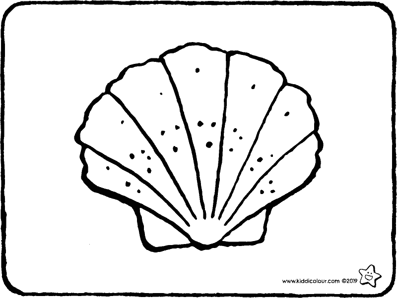 shell colouring page drawing picture 01k