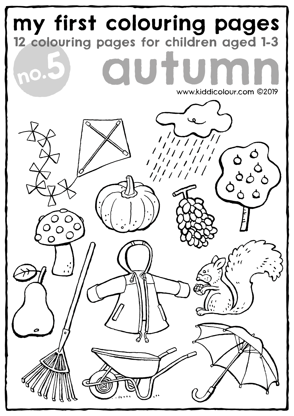my first colouring pages no. 5: autumn