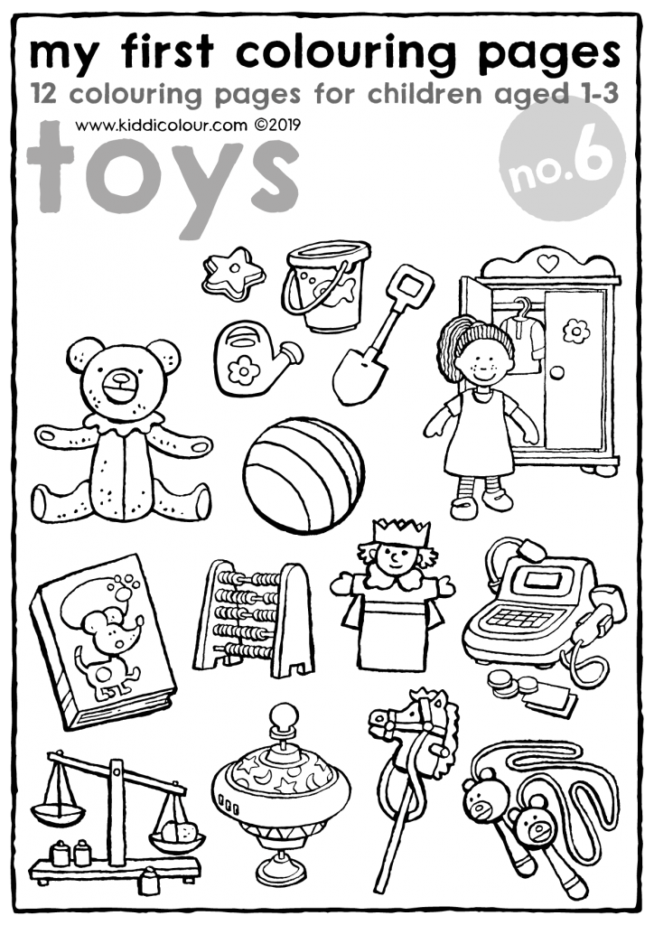 my first colouring pages no. 6: toys