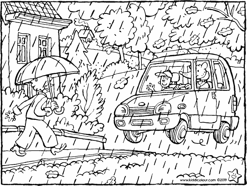 through the wind and the rain - colouring page drawing picture 01k