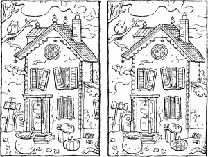Halloween – spot the 7 differences