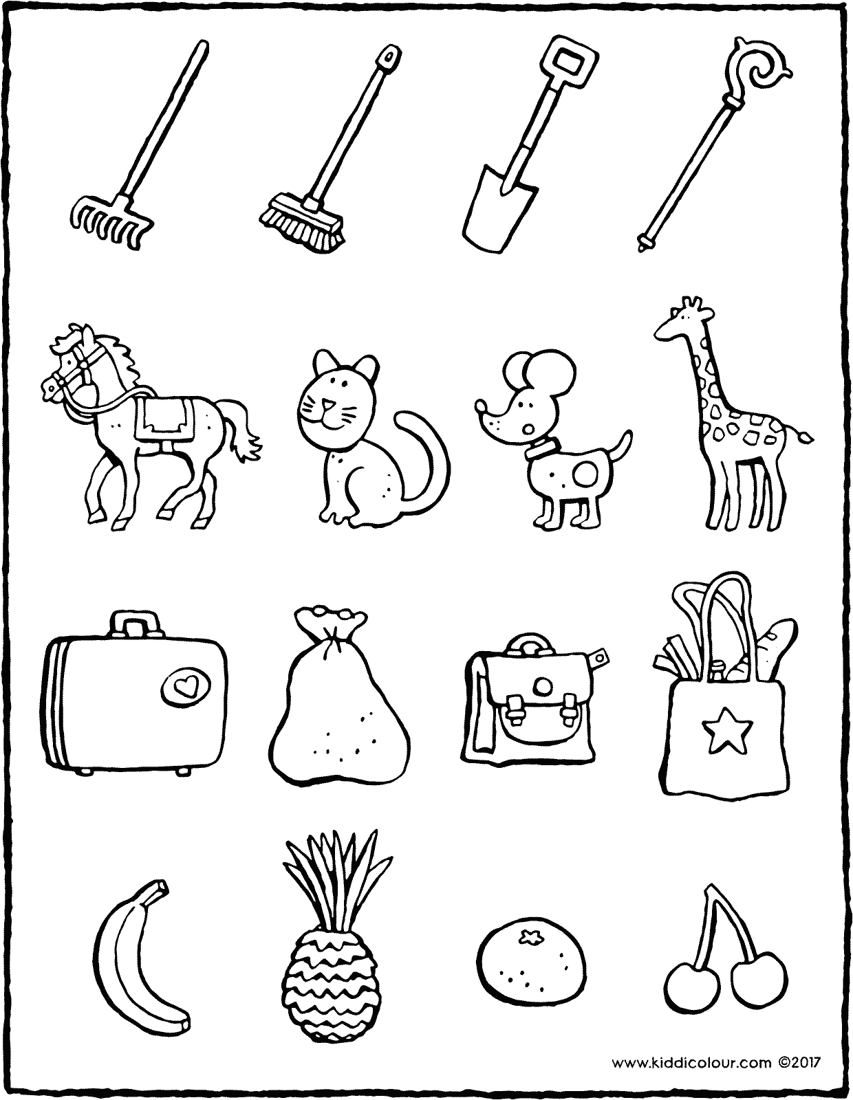 colour in the object that belongs to Saint Nicholas colouring page drawing picture 01V
