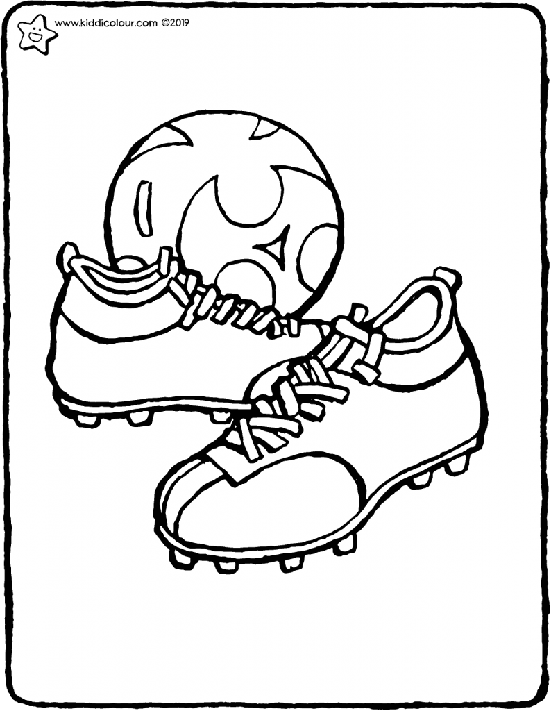 football boots colouring page drawing picture 01V