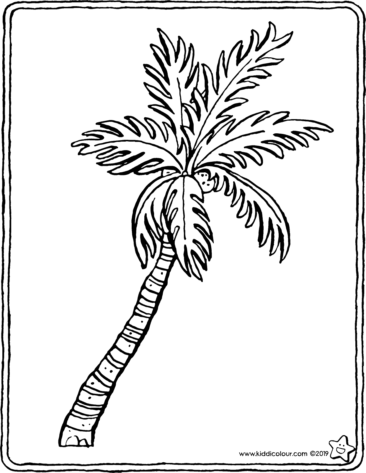 palm tree colouring page drawing picture 01V