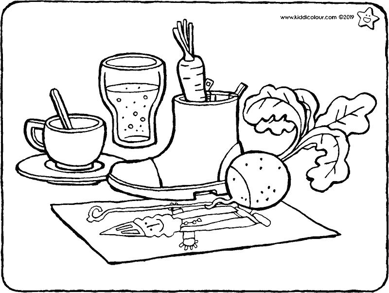 putting out your shoe ready for Saint Nicholas colouring page drawing picture 01k
