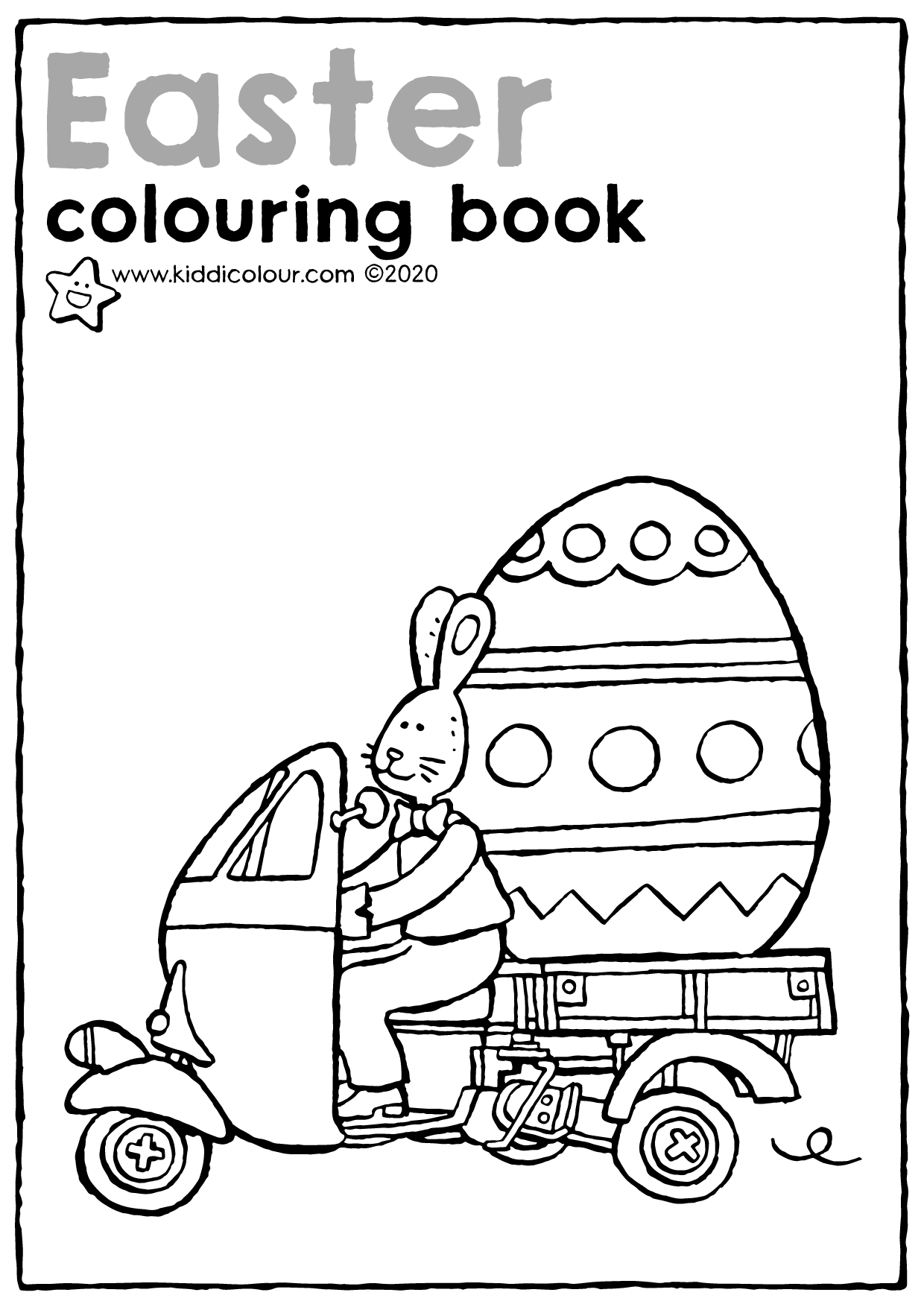Easter colouring booklet