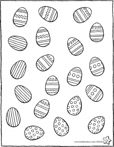 Easter make collections of the same Easter eggs