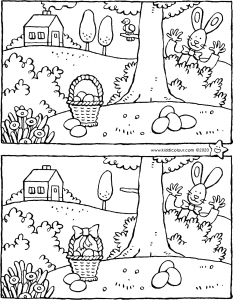 Easter spot the 7 differences