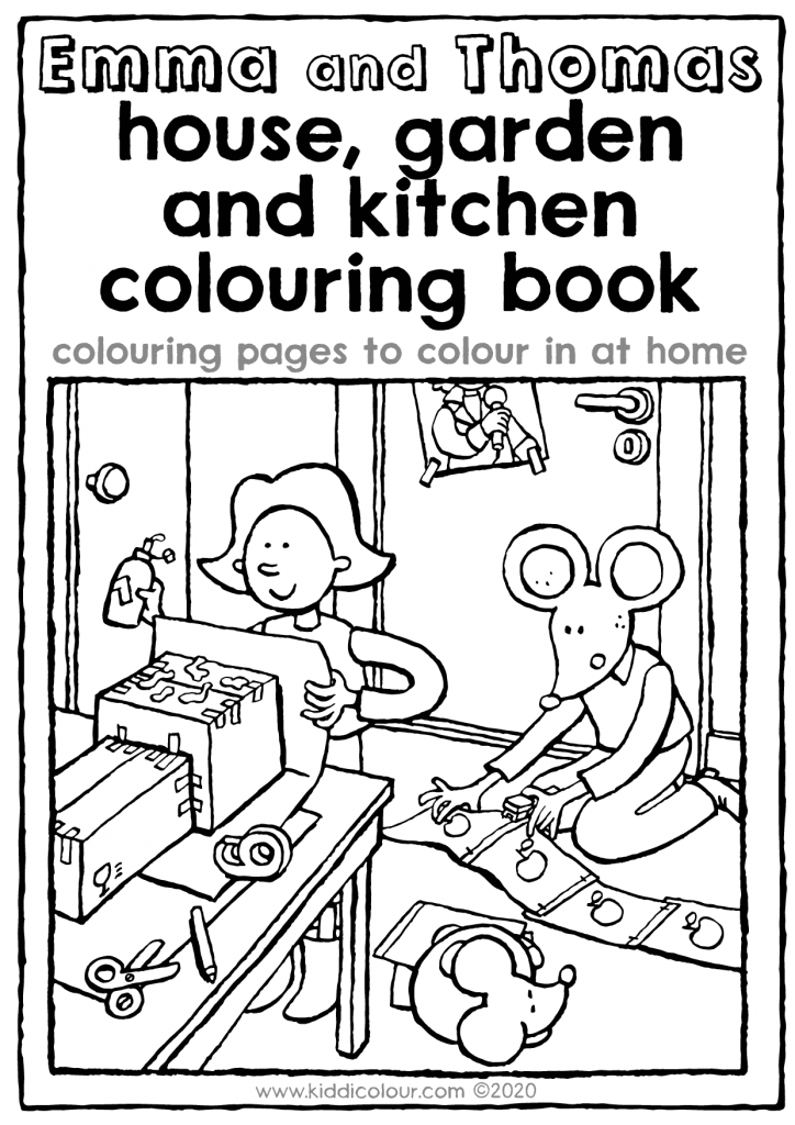 Emma and Thomas house, garden and kitchen colouring book