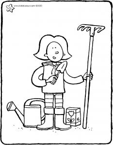 Emma goes to work in the garden