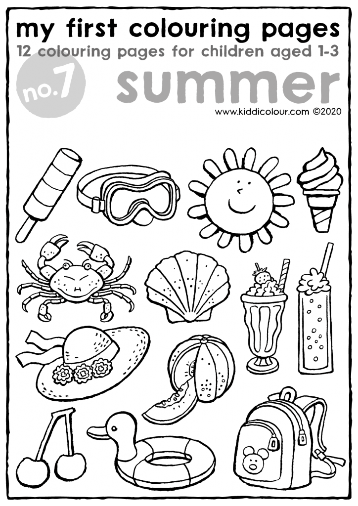 my first colouring pages no. 7: summer