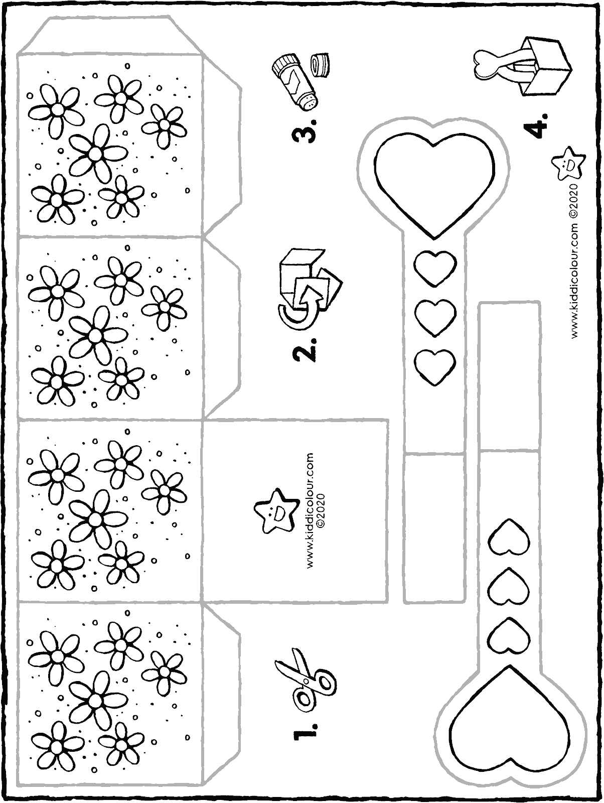 make your own basket for mother's day colouring page drawing picture 01H