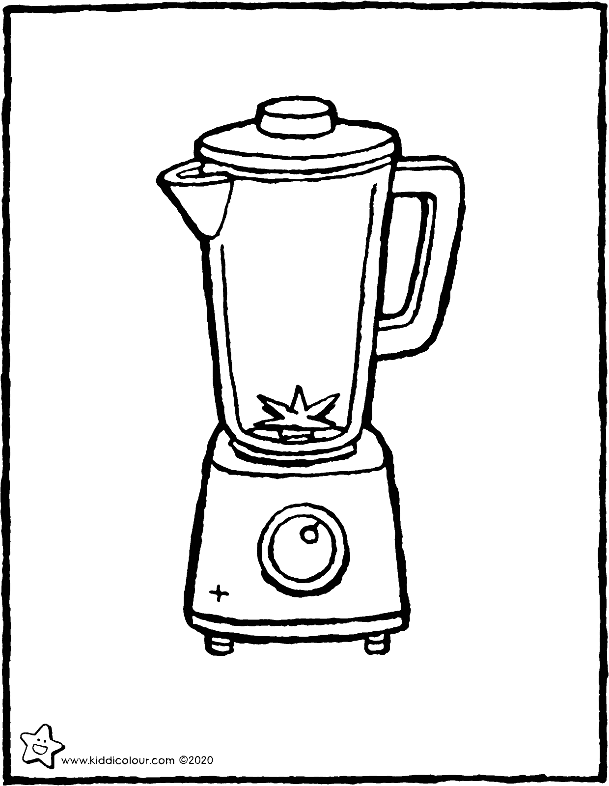 blender colouring page drawing picture 01V