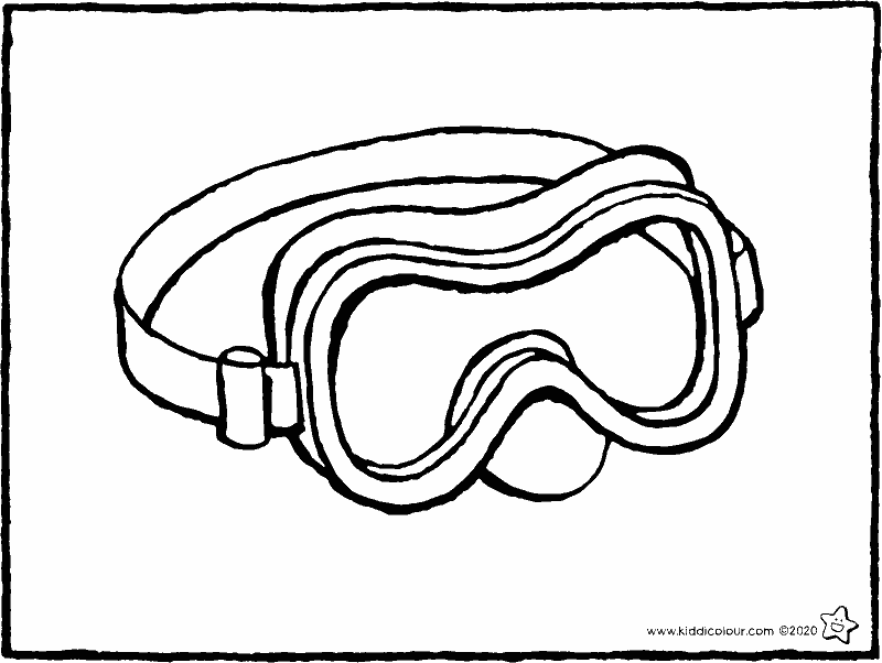 goggles colouring page drawing picture 01k