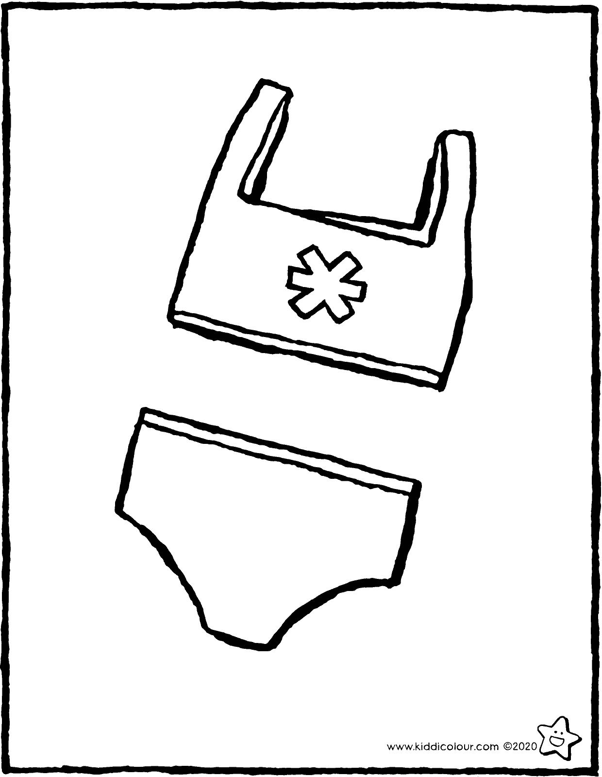 bikini colouring page drawing picture 01V