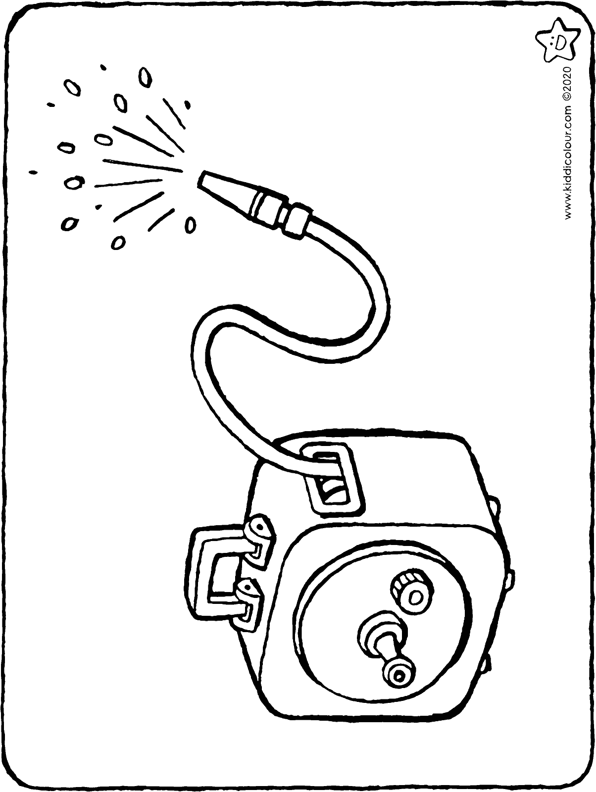 garden hose colouring page drawing picture 01H