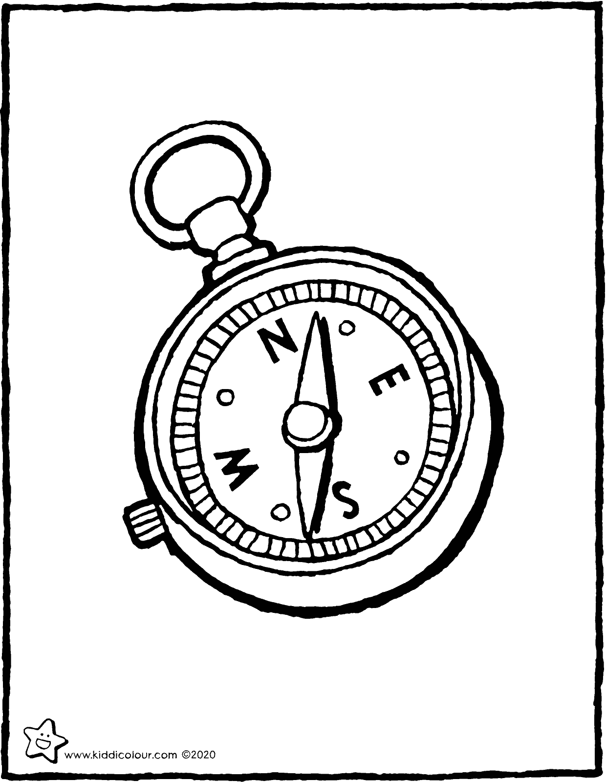 compass colouring page drawing picture 01V