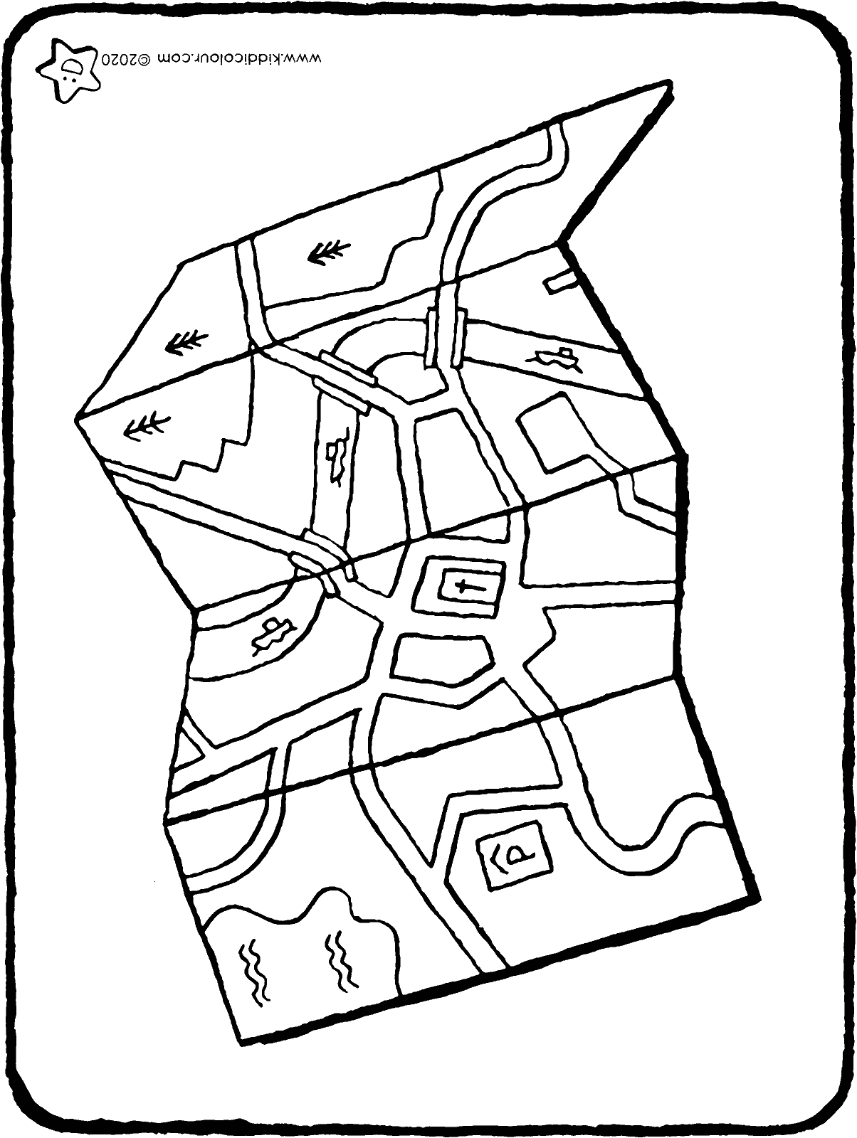 map colouring page drawing picture 01H