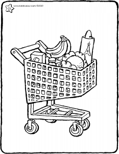 shopping trolley with shopping