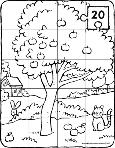 20-piece apple tree puzzle
