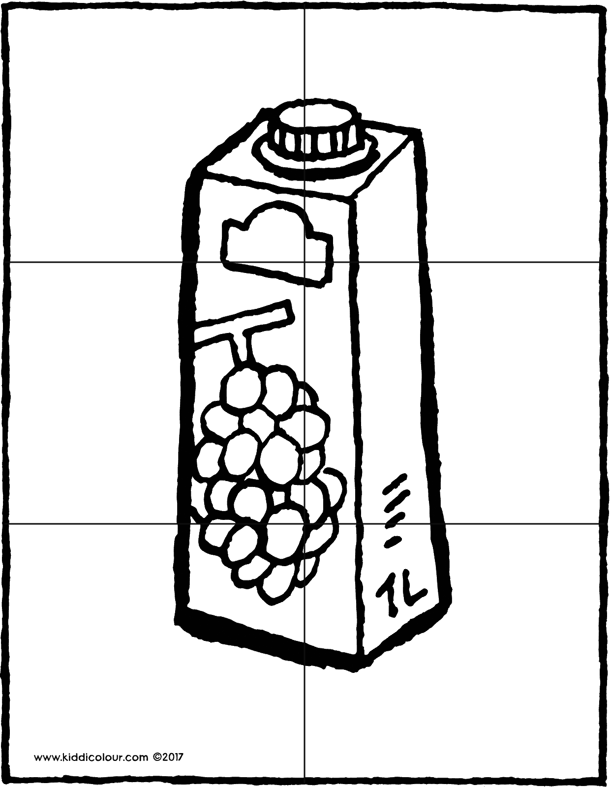 6-piece carton of grape juice puzzle colouring page drawing picture 01V