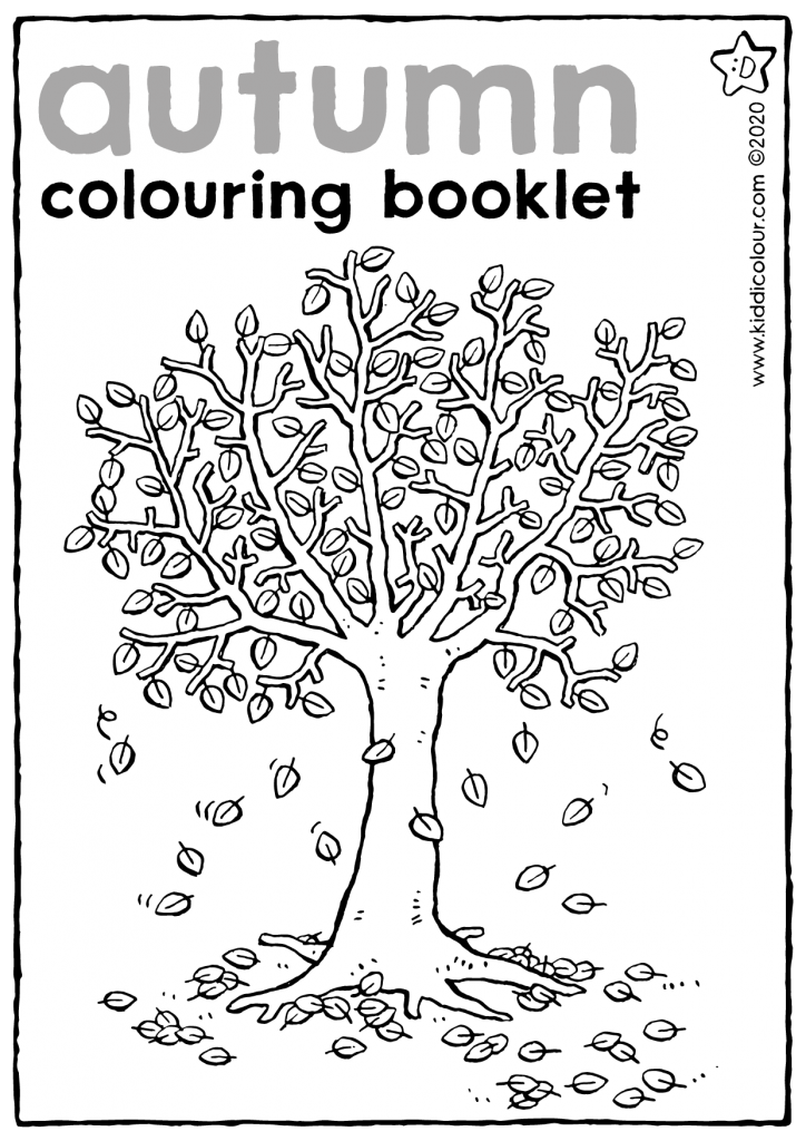 autumn colouring booklet