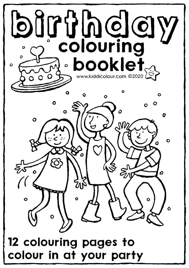 birthday colouring booklet