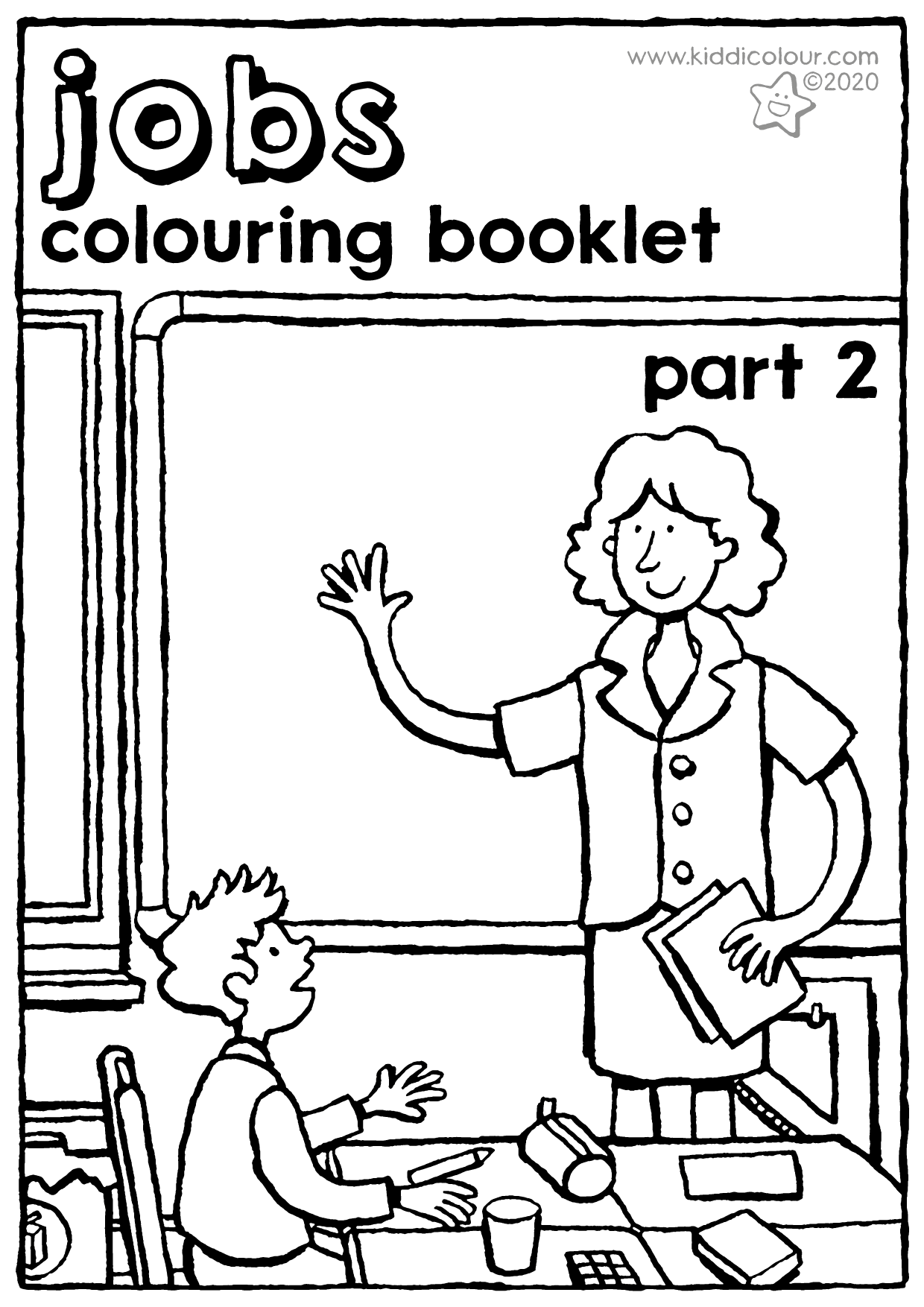 jobs colouring booklet part 2