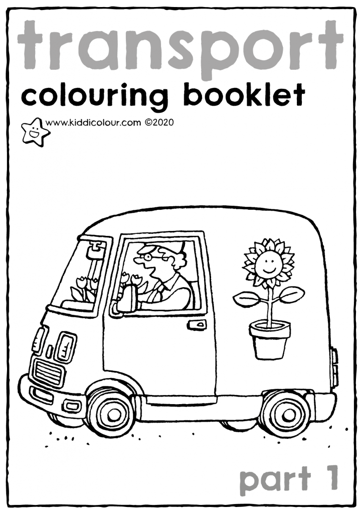 transport colouring booklet part 1