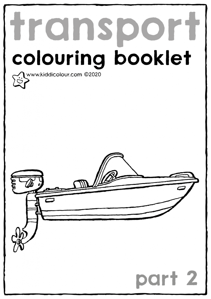 transport colouring booklet part 2