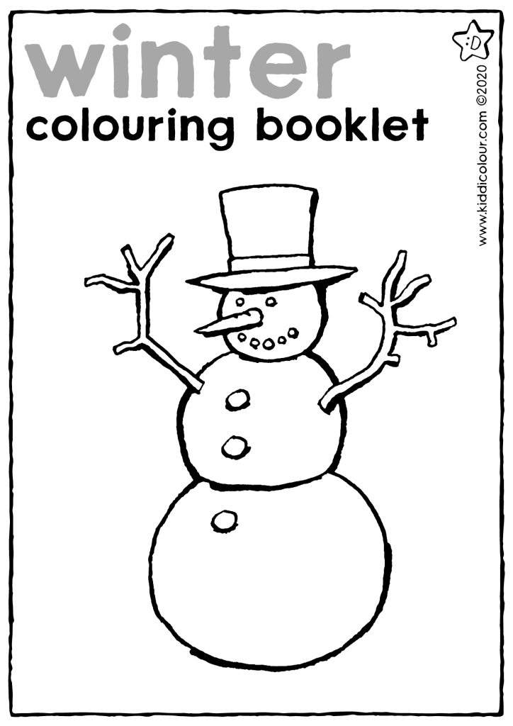 winter colouring booklet