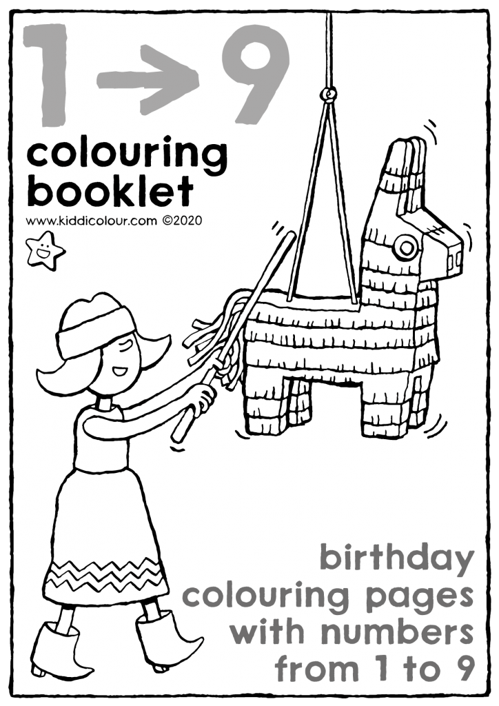 colouring book with numbers for ages 1 to 9
