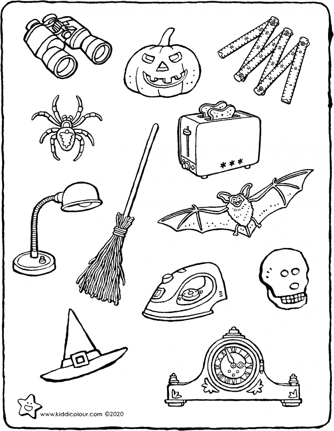 what is linked to Halloween? colouring page drawing picture 01V