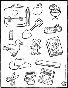 which objects would you find at school