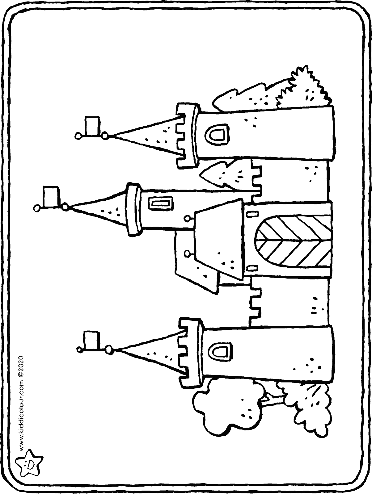 castle colouring page drawing colouring picture 01H