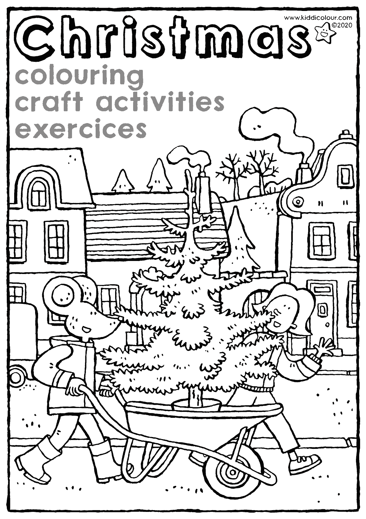 Christmas: colouring, craft activities and exercises