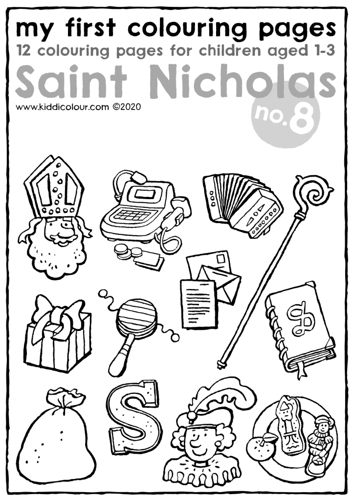 my first colouring pages no.8: Saint Nicholas