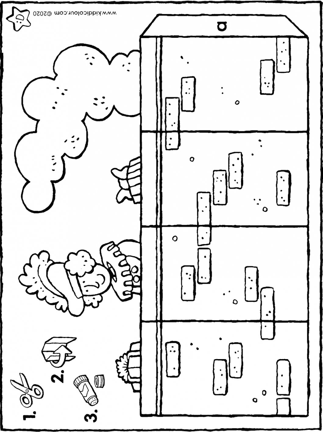 make your own Pete in the chimney colouring page drawing colouring picture 01H