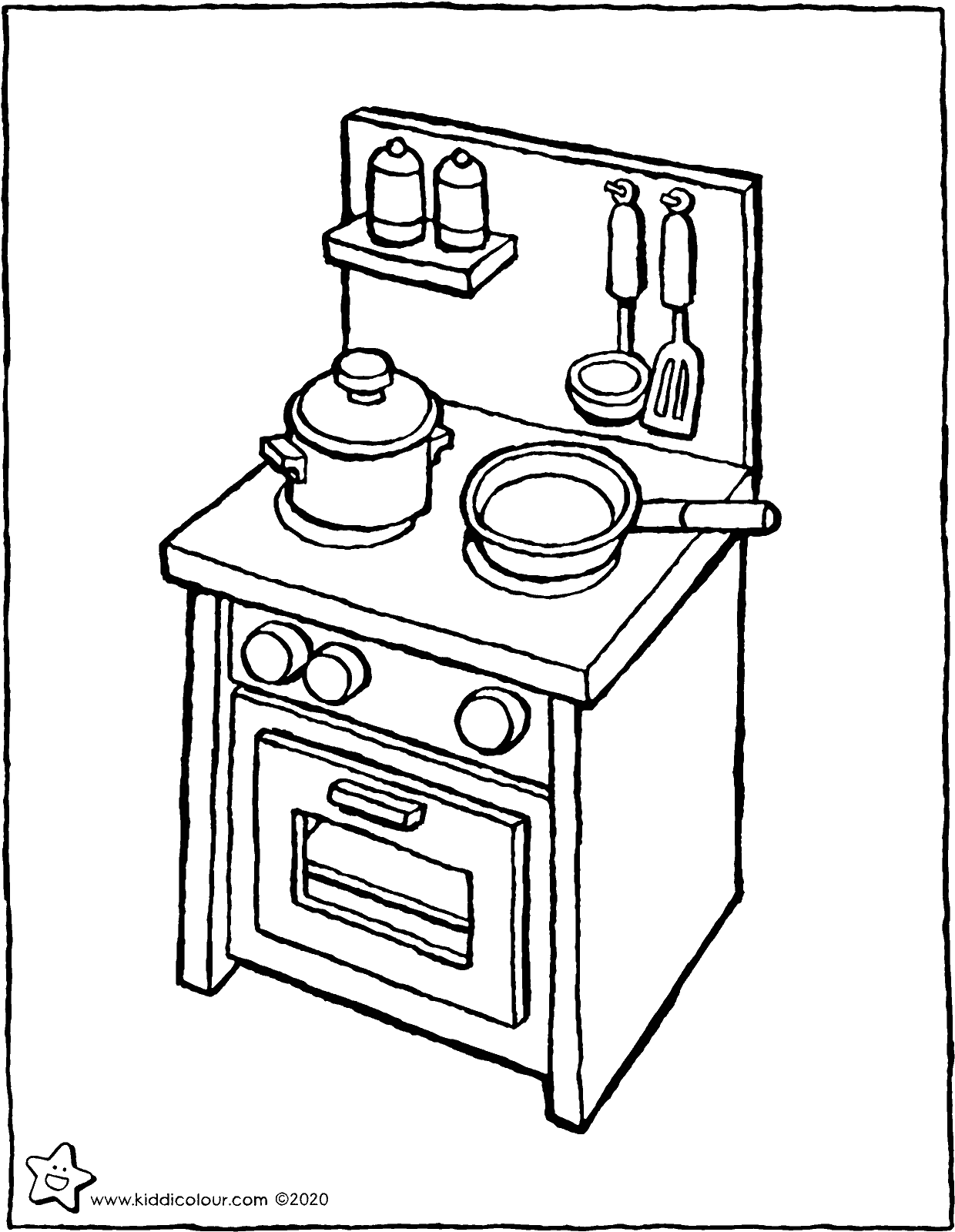 play kitchen colouring page drawing colouring picture 01V