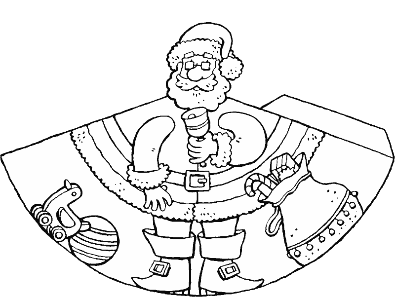 make your own Father Christmas doll colouring page drawing picture 01k