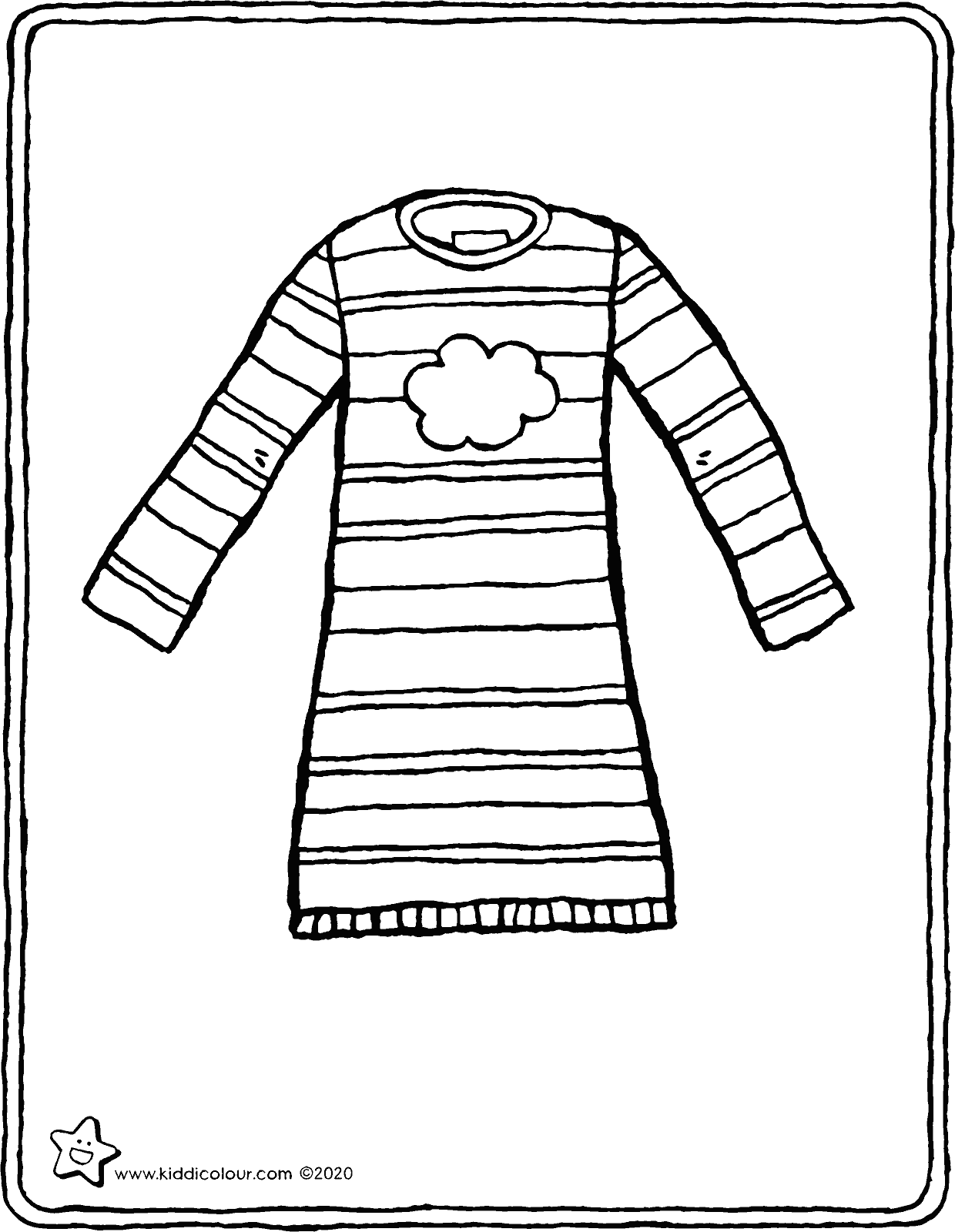 nightdress colouring page drawing picture 01V