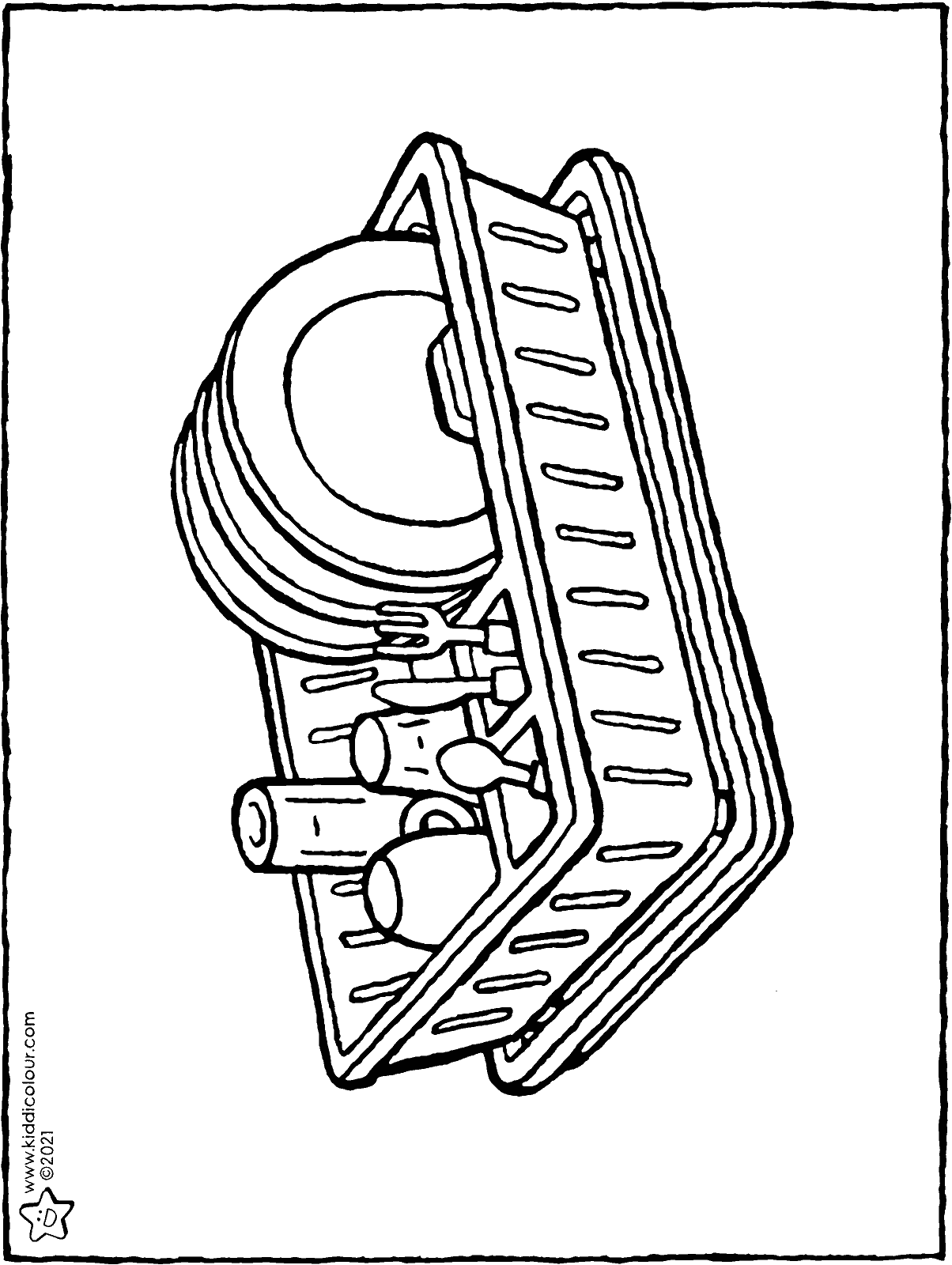 dish rack colouring page drawing picture 01H