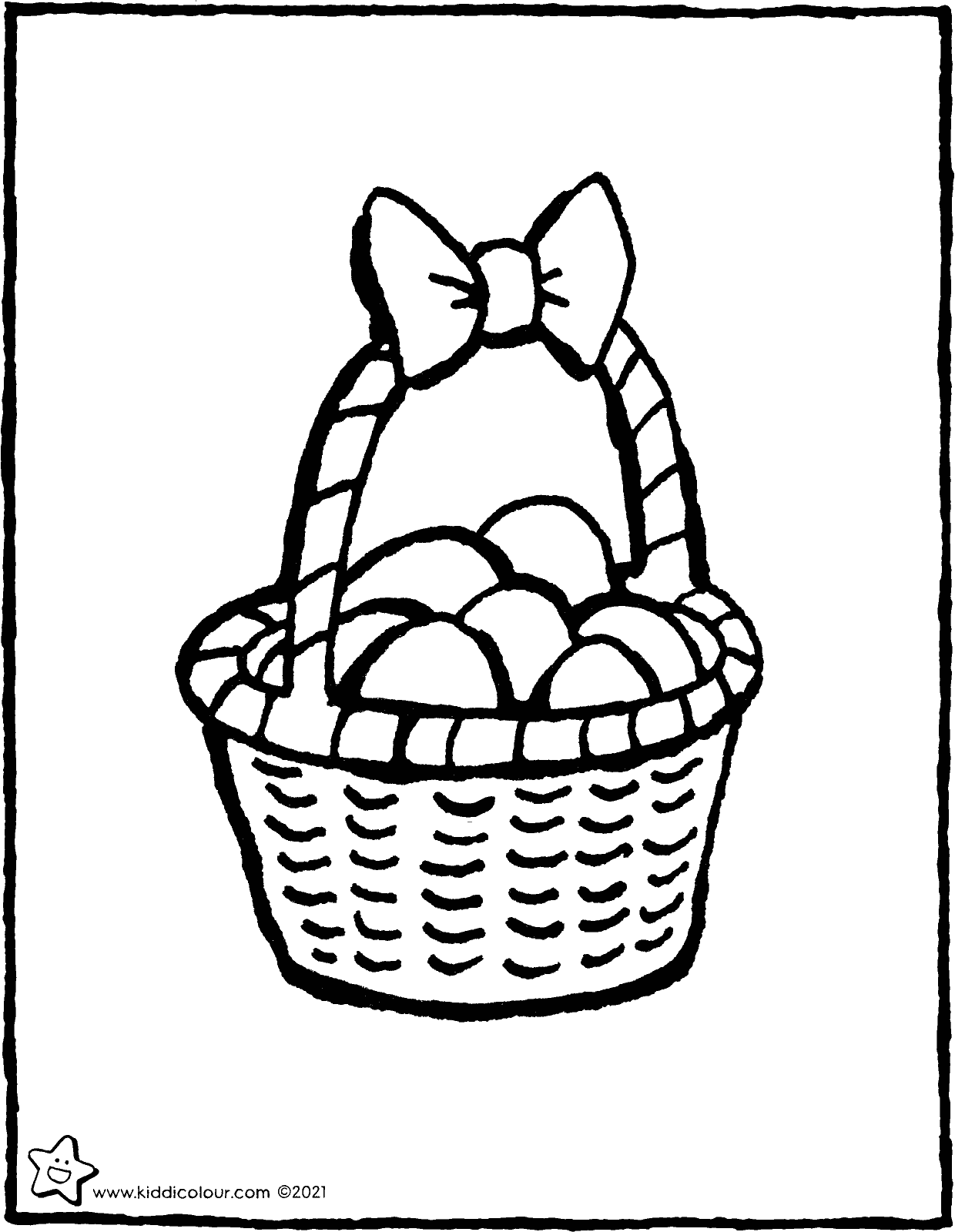 basket of eggs colouring page drawing picture 01V