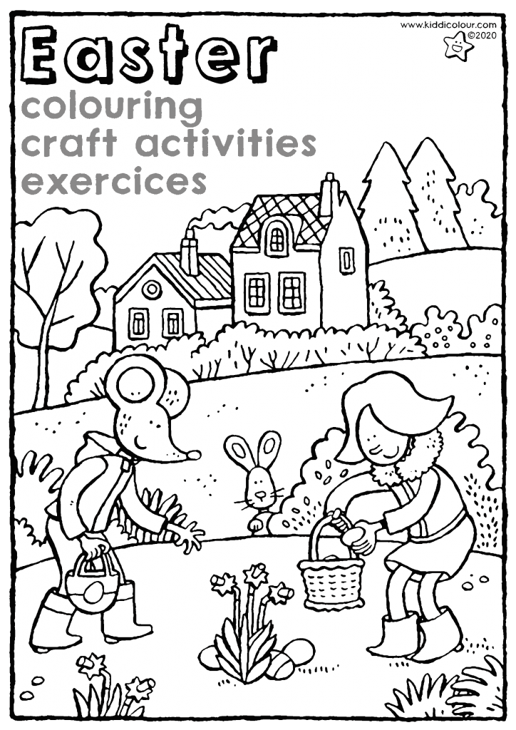 Easter: colouring, craft activities and exercises