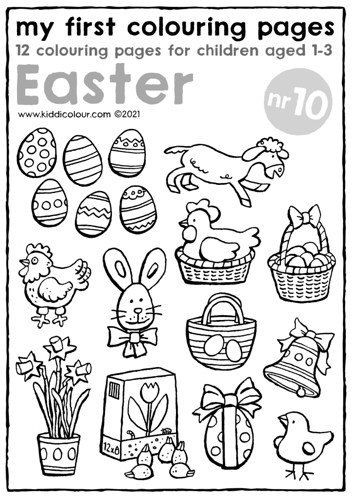 my first colouring pages no. 10: Easter