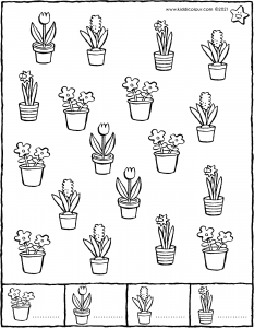 count the flowers in spring – preparation for counting
