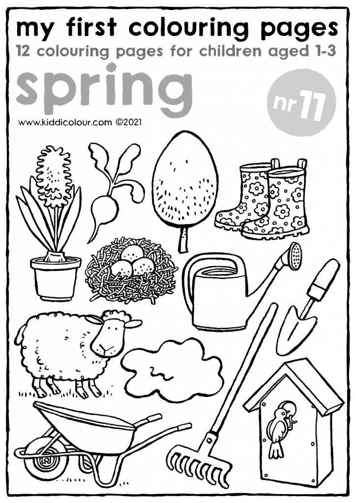 my first colouring pages no11: spring
