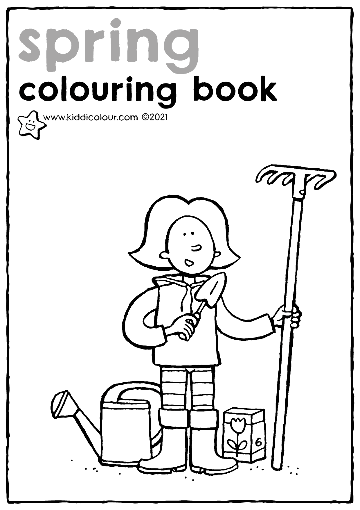 spring colouring booklet