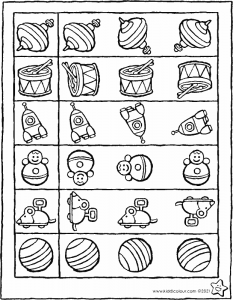 colour in the toy that's identical to the one in the square